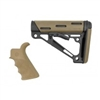 AR-15/M-16 2-Piece Kit Flat Dark Earth - Grip and Collapsible Buttstock - Fits Commercial Buffer Tube