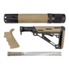 AR-15/M-16 3-Piece Kit Flat Dark Earth - Grip, Collapsible Buttstock, and Forend with Accessories