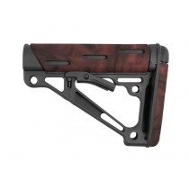 AR-15 / M16: OverMolded Collapsible Buttstock (Fits Commercial Buffer Tube) - Red Lava
