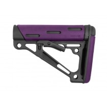 AR-15 / M16: OverMolded Collapsible Buttstock (Fits Mil-Spec Buffer Tube) - Purple