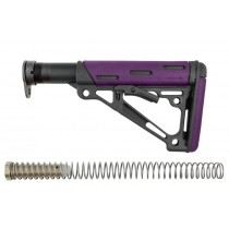 AR-15 / M16: OverMolded Collapsible Buttstock Assembly (Includes Mil-Spec Buffer Tube & Hardware) - Purple