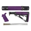 AR-15/M-16 3-Piece Kit Purple - Grip, Collapsible Buttstock, and Forend with Accessories