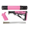 AR-15/M-16 3-Piece Kit Pink - Grip, Collapsible Buttstock, and Forend with Accessories