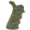 Hogue AR15 Rubber Grip Bottom Finger Grooves Ghillie Green