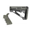 AR-15/M-16 2-Piece Kit Ghillie Green- Grip and Collapsible Buttstock - Fits Commercial Buffer Tube