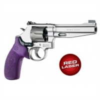 Hogue Smith & Wesson Laser Enhanced Grip K Frame, Round Butt, Rubber Monogrip, Purple