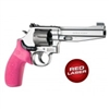 Hogue Smith & Wesson Laser Enhanced Grip K Frame, Round Butt, Rubber Monogrip, Pink