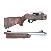 "Hogue 10/22 Takedown Thumbhole .920"" Diameter Barrel Rubber OverMolded Stock Red Lava"