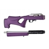 Hogue 10/22 Takedown Thumbhole Standard Barrel Rubber OverMolded Stock Purple