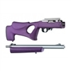 "Hogue 10/22 Takedown Thumbhole .920"" Diameter Barrel Rubber OverMolded Stock Purple"