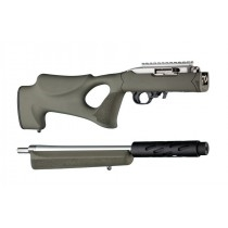 Hogue 10/22 Takedown Thumbhole Standard Barrel Rubber OverMolded Stock Olive Drab Green