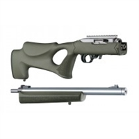 "Hogue 10/22 Takedown Thumbhole .920"" Diameter Barrel Rubber OverMolded Stock Olive Drab Green"