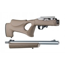 "Hogue 10/22 Takedown Thumbhole .920"" Diameter Barrel Rubber OverMolded Stock Flat Dark Earth"