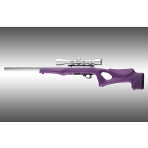 Hogue 10/22 Overmolded Stock Tac Thumbhole, .920 Barrel, Purple