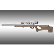 Hogue 10/22 Overmolded Stock Tactical Thumbhole, 920 Barrel Channel, Flat Dark Earth