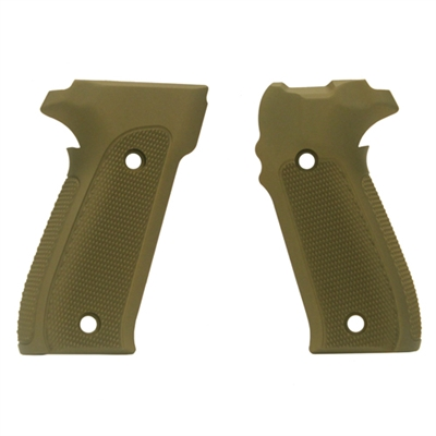 Hogue Sig P226 Grips Checkered Aluminum Matte Green Anodized