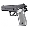 Hogue Sig P226 Grips Checkered Aluminum Brushed Gloss Clear Anodized