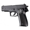 Hogue Sig P226 Grips Checkered Aluminum Brushed Gloss Black Anodized