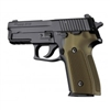 Hogue Sig P228/P229 Grips Checkered Aluminum Matte Green Anodized