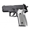Hogue Sig P228/P229 Grips Checkered Aluminum Matte Brushed Gloss Clear Anodized
