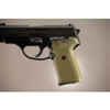 Hogue Sig P239 Grips Checkered Aluminum Matte Green Anodized