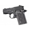 Hogue Sig P238 Grips Checkered G-10 G-Mascus Black/Gray