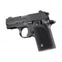 Hogue Sig P238 Grips Checkered G-10 Solid Black
