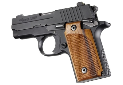 Sig Sauer P238 Goncalo Alves Checkered Wood Grips