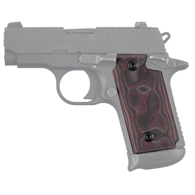 Hogue Sig P238 Grip G-10 G-Mascus Red Lava