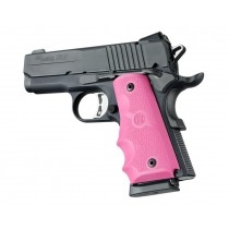 Hogue Colt Officers Rubber Grip with Finger Grooves Pink