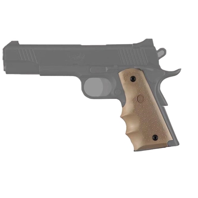 Hogue Colt Government Rubber Grip with Finger Grooves Flat Dark Earth