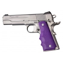 Hogue Colt & 1911 Government Grips w/Finger Grooves, Purple