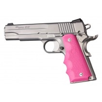 Hogue Colt Government Rubber Grip with Finger Grooves Pink