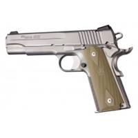 Hogue Colt Government Rubber Grip Panels, Checkered with Diamonds Flat Dark Earth