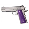 Hogue Colt Government Rubber Grip Panels, Checkered with Diamonds Checkered, Purple