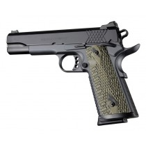 Hogue Colt & 1911 Gov't S&A Piranha G-10 Green Grip