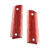 Hogue Extreme Series Aluminum Pistol Grips Flames, Red Anodized, Government