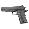 1911 Govt. Model: Checkered G-Mascus G10 Grip - Black/Grey