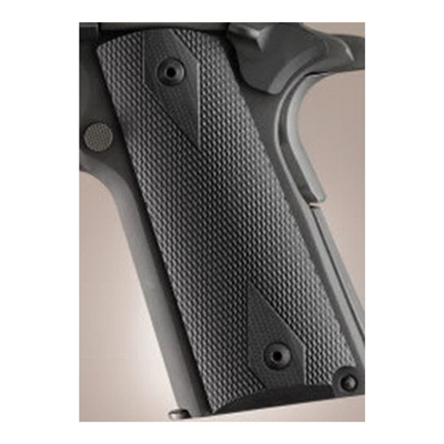 Hogue Extreme Series Grips Checkered G-10, Black, Government Model