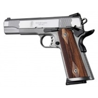 Hogue Colt & 1911 Government S&A Mag Well Grips S&A Mag Ambidextrous Cut, Checkered