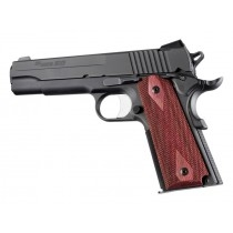 Hogue Colt & 1911 Government Grip Rosewood Laminate Ambidextrous Safety Cut, Checkered