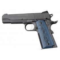Hogue Colt & 1911 Government Grips G-10 G-Mascus Blue Lava
