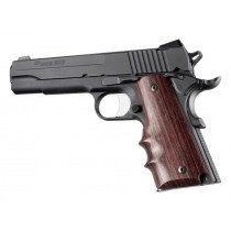Hogue Colt & 1911 Government Grips Rosewood w/Finger Grooves