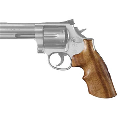Hogue Dan Wesson Grip Small Frame, Goncalo Alves w/Tang, Finger Grooves