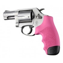 Hogue Rubber Grip for S&W J Frame Round Butt, Monogrip Pink