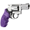 Hogue Smith & Wesson Laser Enhanced Grip J Frame, Round Butt, Rubber Monogrip, Purple
