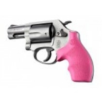 Hogue Rubber Grip for S&W J Frame Round Butt Rubber, Bantam Pink