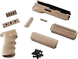 AK-47/AK-74 Standard Chinese and Russian - Kit - OverMolded Grip and Forend Flat Dark Earth