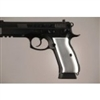 Hogue CZ-75/CZ-85 Grips Aluminum Brushed Gloss Clear Anodized