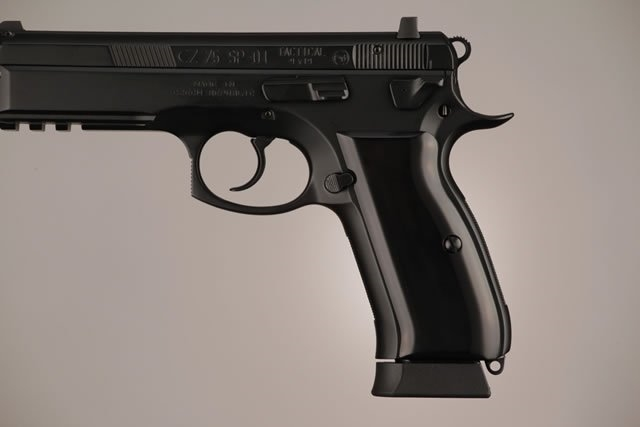 Hogue CZ-75/CZ-85 Grips Aluminum Brushed Gloss Black Anodized